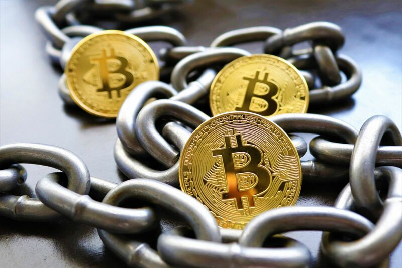 Crypto - Bitcoin Chain Background Blockchain