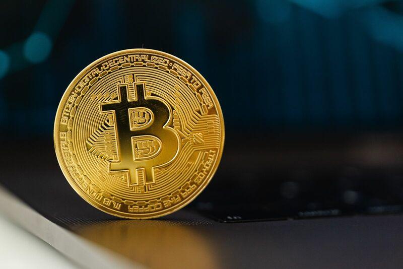 Crypto - Bitcoin Coin Dark Background