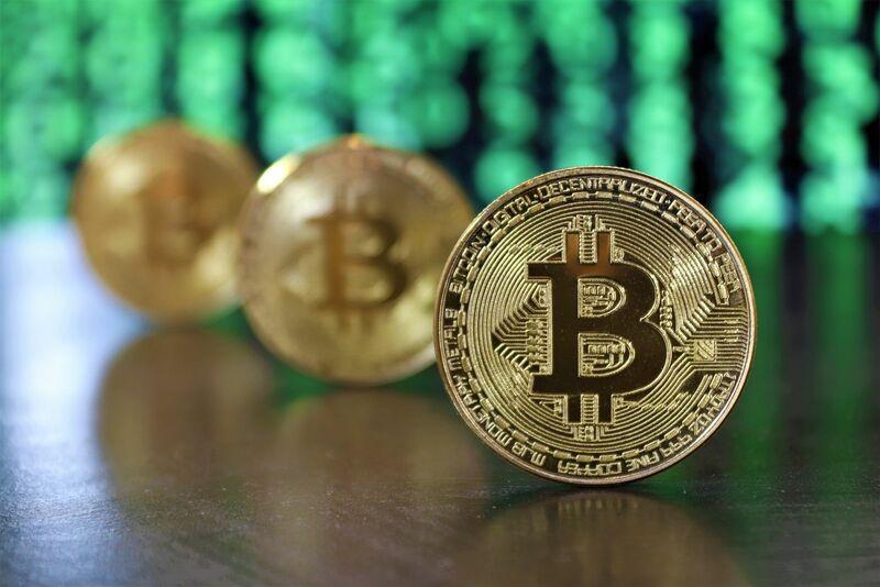 Crypto - Bitcoin Cyber Green Data Background