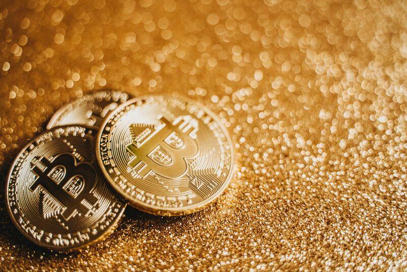Crypto - Bitcoin Gold Sparkle Background