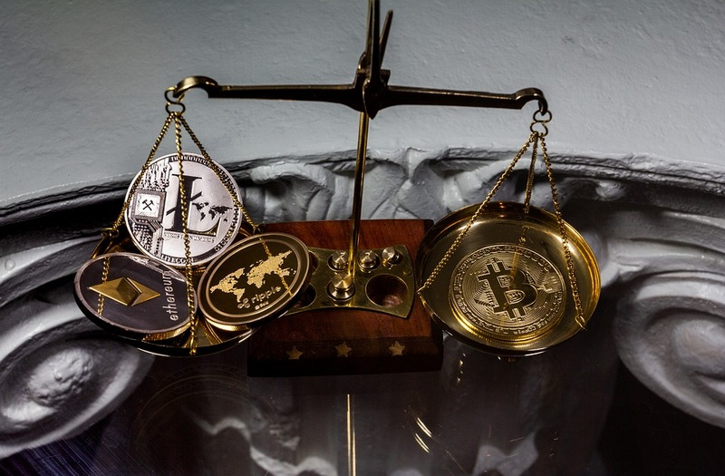 Crypto - Crypto Coins Scale Balanced Weight