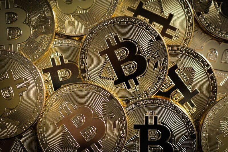 Crypto - Many Bitcoin Gold Coins