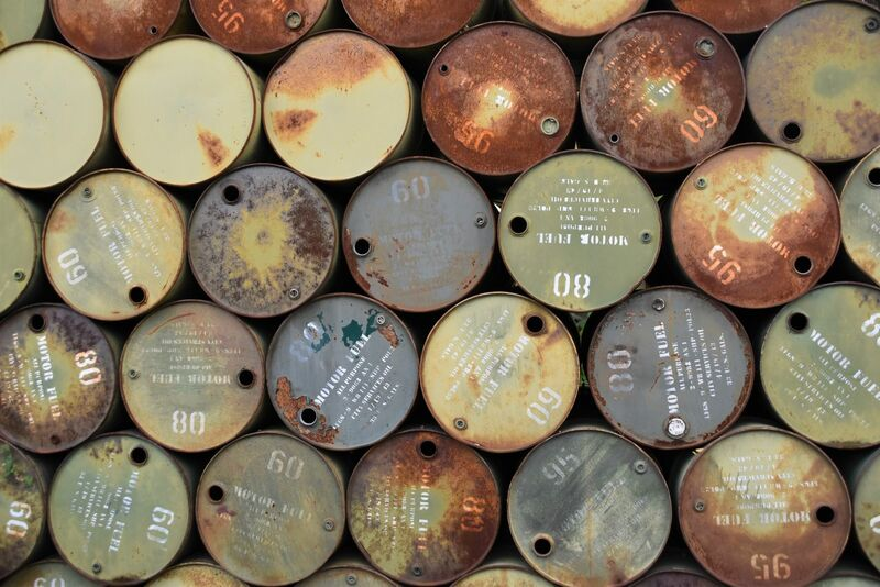 Energy - Oil Barrels Stacked on Each Other