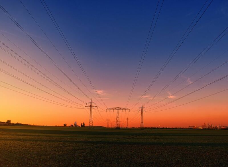Energy - electricity power lines