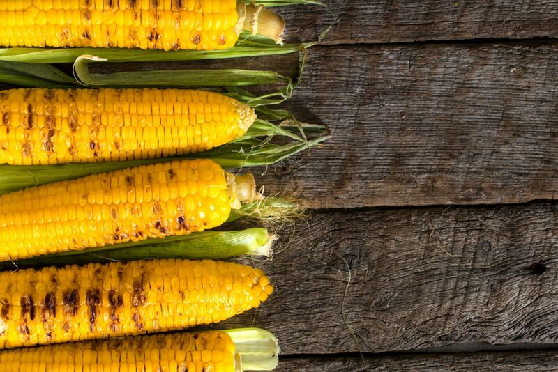 Grain - grilled corn on wooden table