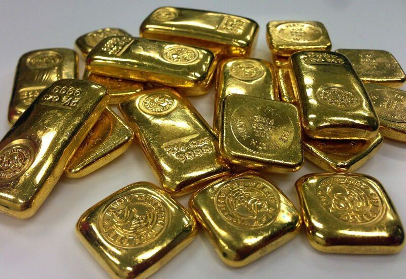 Metals - gold bullion rounded