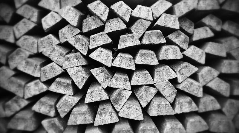 Metals - stacked silver bars