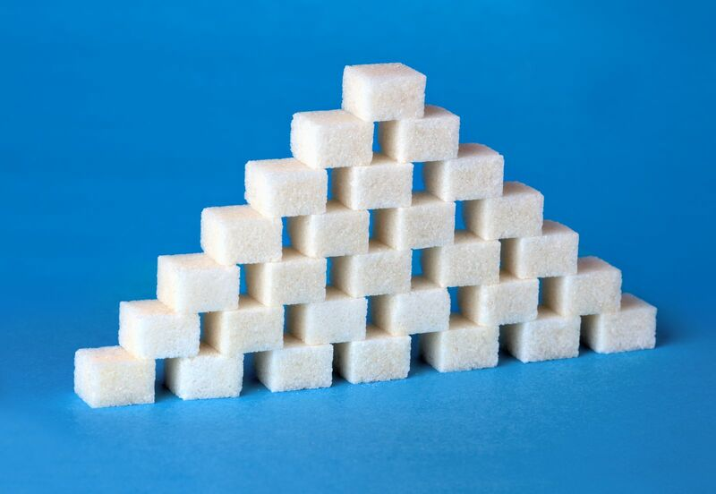 Softs - pyramid-formed-with-sugar