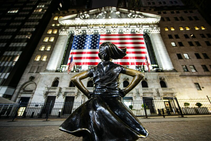 Stocks-Money-Rates - Fearless girl on wall street-STJJ6OR3F1c-unsplash