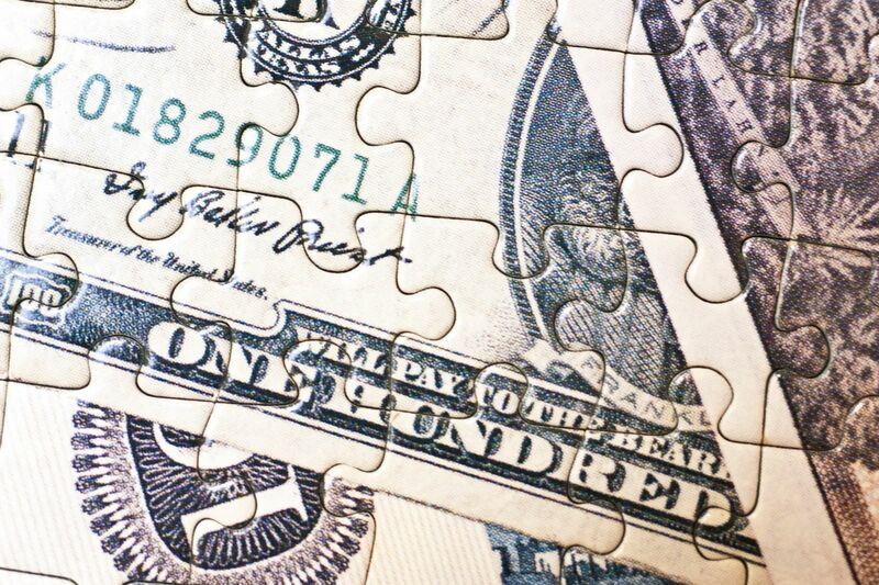 Stocks-Money-Rates - Puzzle Made of Money