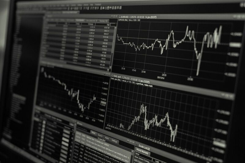 Stocks-Money-Rates - Stock Chart Black and White