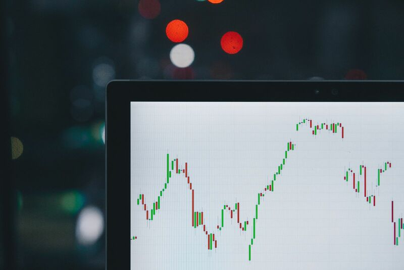 Stocks-Money-Rates - Stock chart on computer screen -ZzOa5G8hSPI-unsplash
