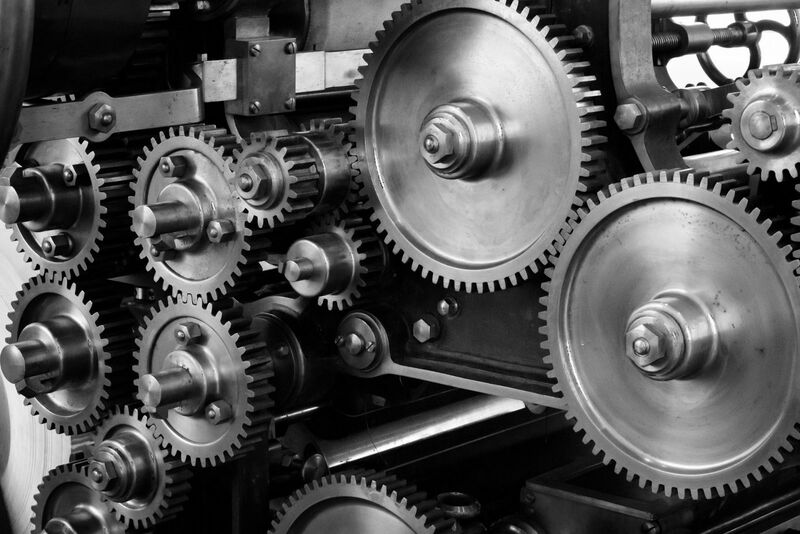 Tech - gears and cogs in a machine
