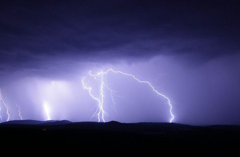 Weather - Flash of Lightning Purple